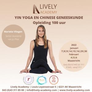 Yin Yoga en Chinese geneeskunde opleiding RYT100 Marieke Vliegen, Lively Academy